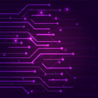 Фиолетовый цвет концепции кибербезопасности с технологией.