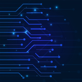 Синий цвет концепции кибербезопасности с технологией.