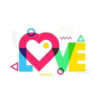 Сердце украсило текст любовь.