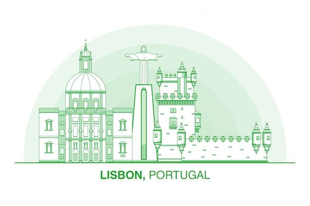 Лиссабон город иконка иллюстрация