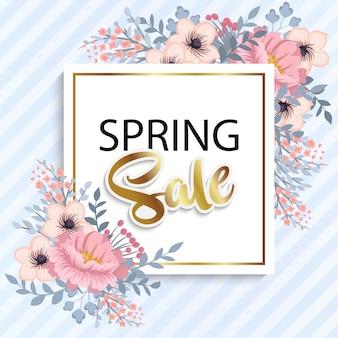 Красивый цветочный дизайн весны продажи. векторная иллюстрация