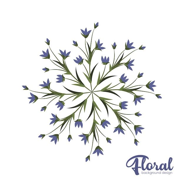 花の背景のデザイン
