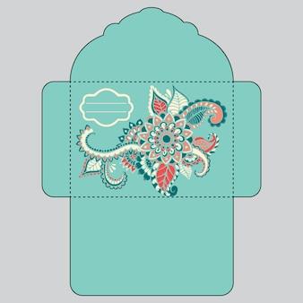 Цветочный дизайн конверт