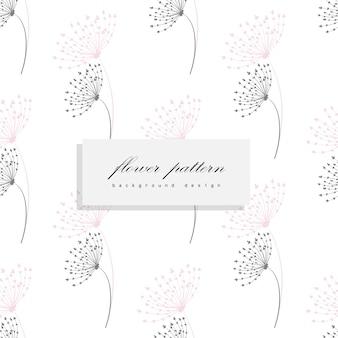 花と葉と花束の花束のベクトルパターン