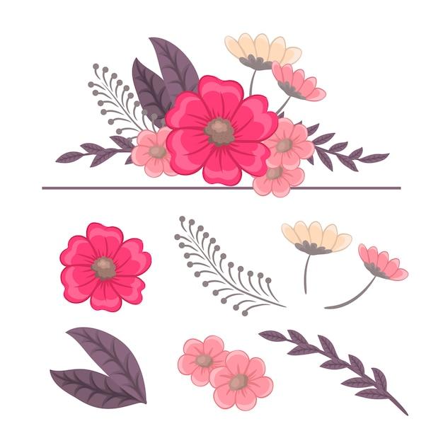 花の組成。