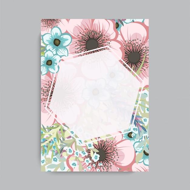 カラフルな花の花のフレーム。