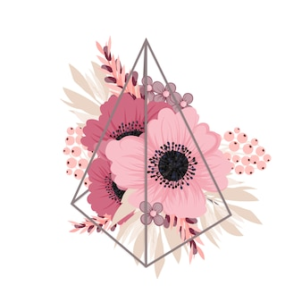 Цветочная композиция с ярким цветком
