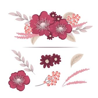 Цветочная композиция с ярким цветком.