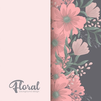 花、水彩とグリーティングカード。
