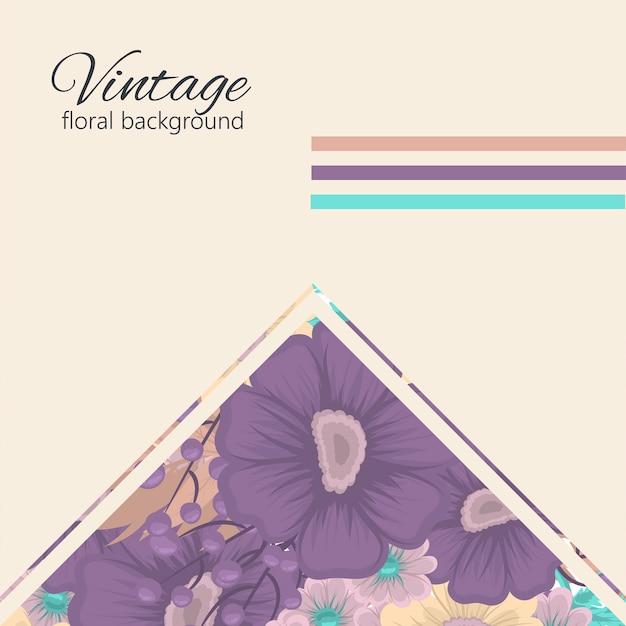 Поздравительная открытка с цветами