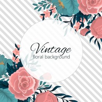 Шаблон поздравительных открыток с цветами фона