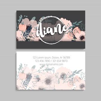 Цветочная визитка