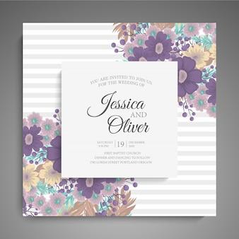 Стильная темная свадебная рамка с цветами.