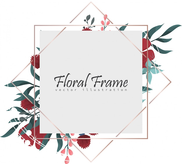 植物グリーティングカード招待状のデザインテンプレート