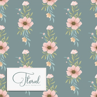 ベクトル図でトレンディなシームレス花柄