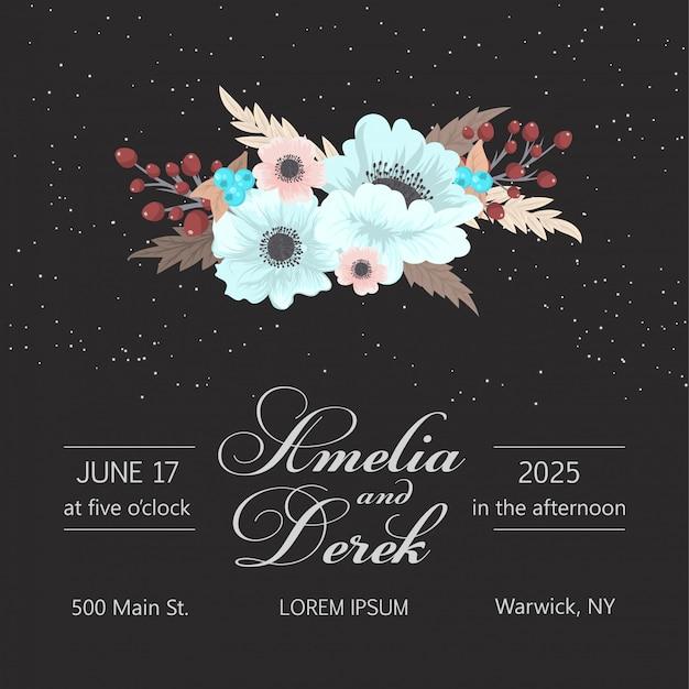 美しい花柄のデザイン商務カード。ベクトルイラスト