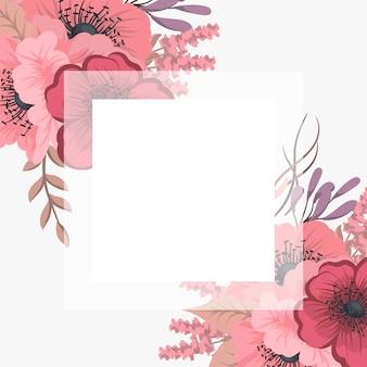 Цветочная рамка с красочным цветком.