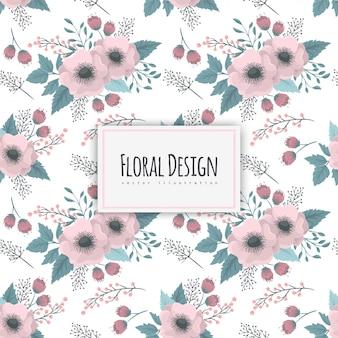 花柄のデザインとのシームレスなパターン