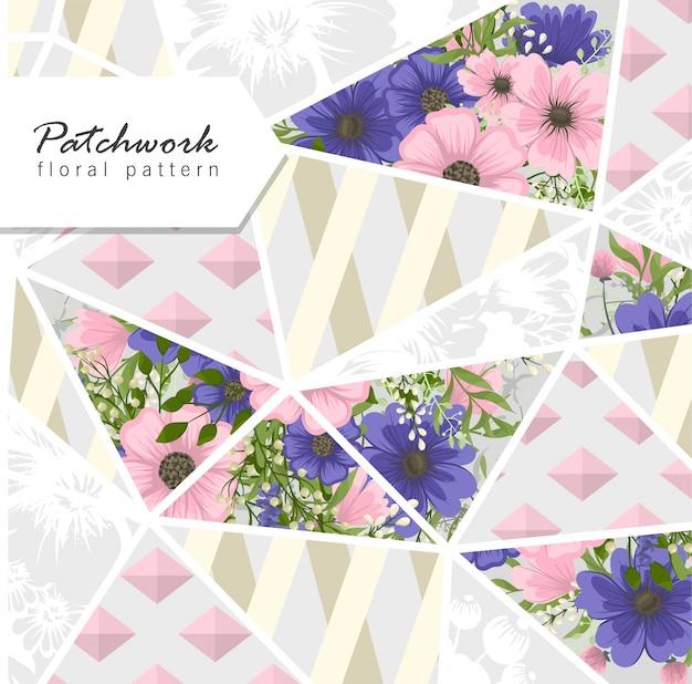Абстрактное пэчворк с цветами