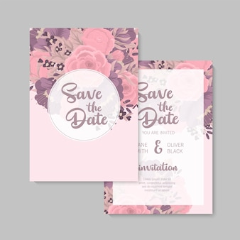 Свадебные приглашения с красочным цветком