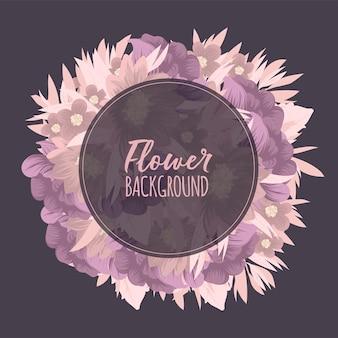 色とりどりの花で花のフレーム