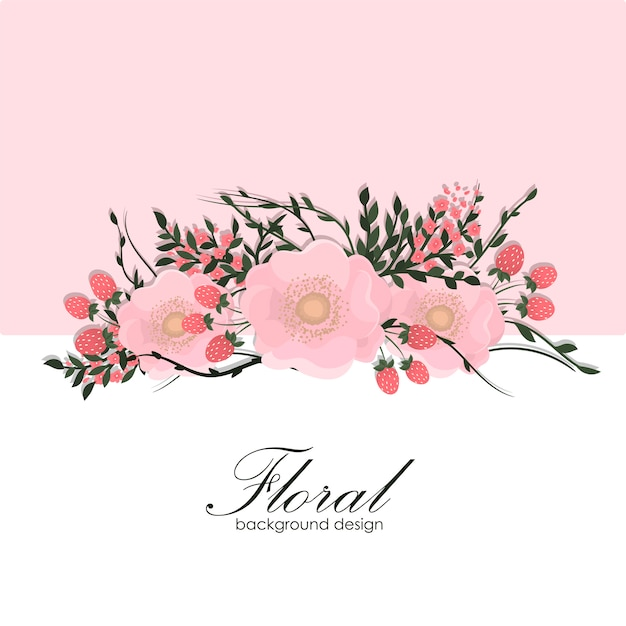 色とりどりの花で花のフレーム。