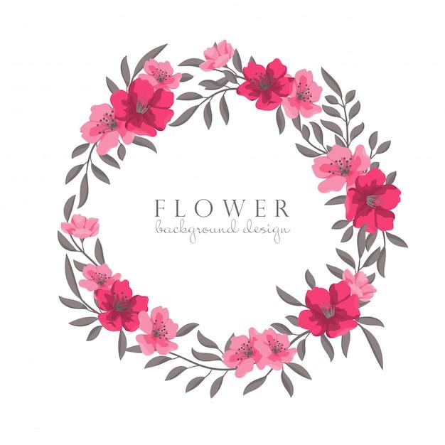 花の花輪を描く