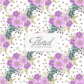 シームレスな花紫の花