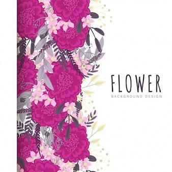 ホットピンクの花