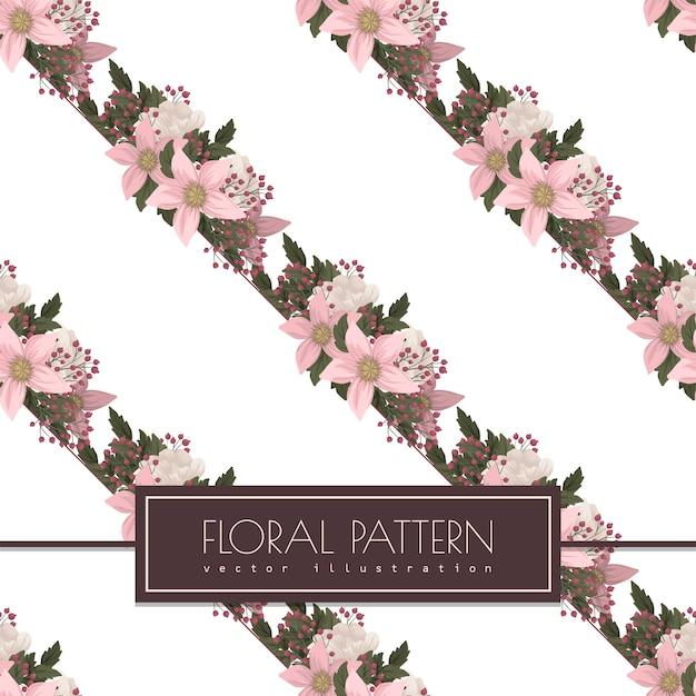 Розовый цветочный бесшовный узор