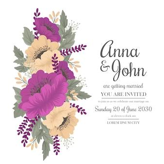 ビンテージのウェディングホットピンクの花のフレーム