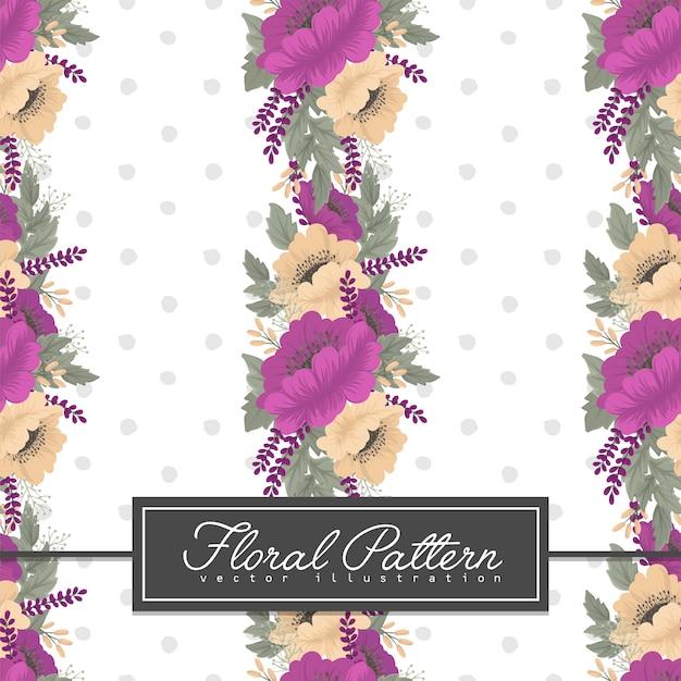 紫の花のシームレスパターン