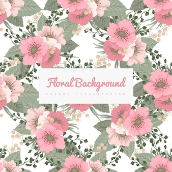 Цветочный узор фона - весенние цветы