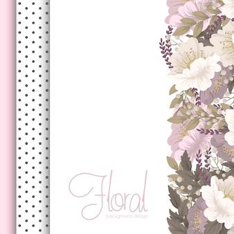 フラワーデザインボーダーピンクの花