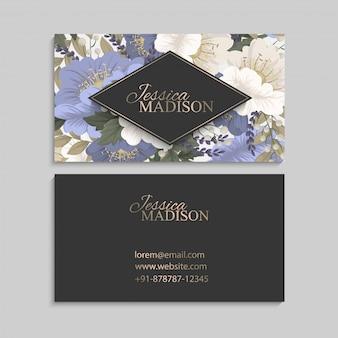 春の花ボーダー花カード