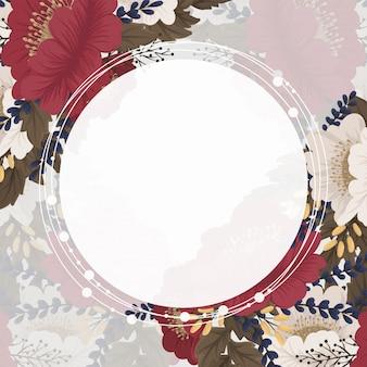 Цветочная рамка фон красные цветы