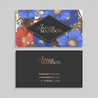 ボーダー花柄-花サークルフレーム