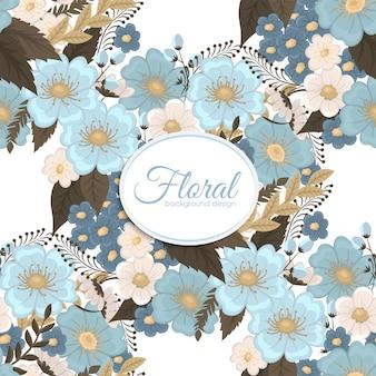 水色の花のシームレスな背景