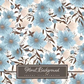 光の青い花のシームレスな背景