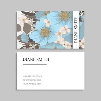 Цветочный фон границы - голубые цветы