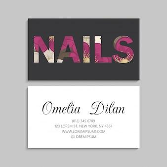 Цветочные визитки ярко-розовых цветов