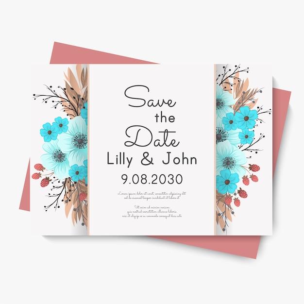 Свадебная цветочная открытка
