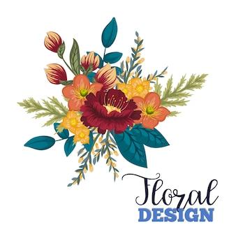 Красивый цветочный дизайн.векторная иллюстрация