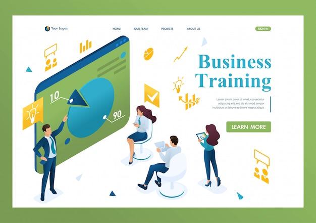 ビジネスコーチは会社の従業員を訓練します。