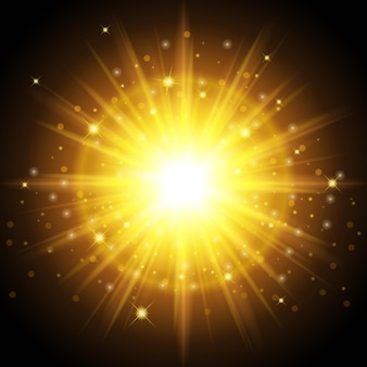 Яркий высококачественный золотой свет на новый год и рождество. предназначен для установки поразительного эффекта солнечного света.