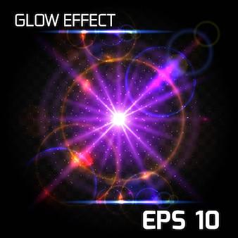 Роскошный фон из светящихся частиц эффекта взрыва