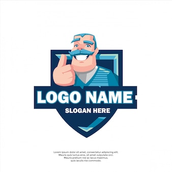 遊び心のある良いゲームのロゴのテンプレート