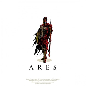 Арес греческий бог логотип