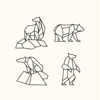 Пакет многоугольного медведя