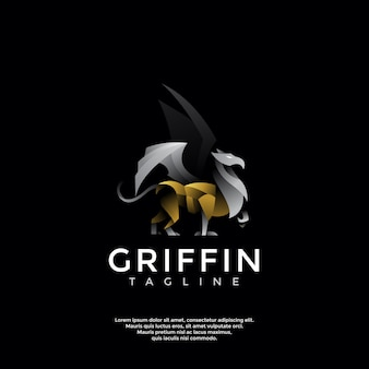 Современный шаблон логотипа грифон